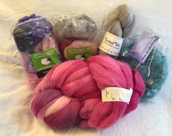 Destash Wool Roving - Assorted colors