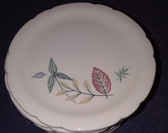 "Vintage Hard To Find Walker China ""Florama"" Restaurant Ware Scalloped Bread/Butter Plate"