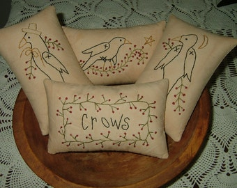 Primitive Crow Pillows~Bowl Fillers~Ornies~Tucks~Last Set!~Retiring!