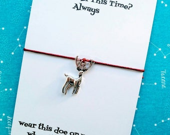 Harry Potter Always Charm Bracelet, Harry Potter Doe Wish Bracelet, Patronus Charm
