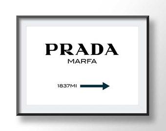PRADA MARFA poster, prada marfa night scene, prada marfa printable, texas prada, boho print, fashion art, marfa texas, prada printable, 9136