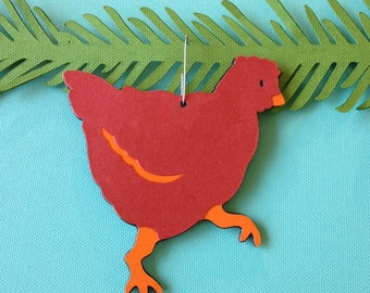 Chicken Christmas tree ornament