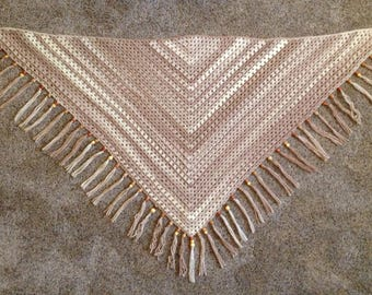 Rustic Chic Shawl with Wood Beads