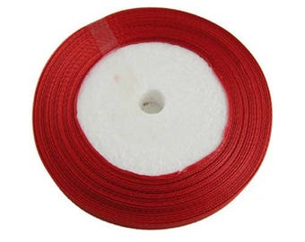 23 meters of Satin Red 10 mm Ribbon