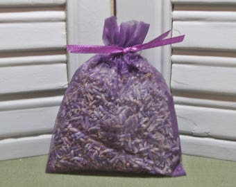"Party favor, lavender sachet, dried lavender, dark purple, wedding, favors, bridal shower, baby shower, Thank you, 3"" by 4"" organza bag"