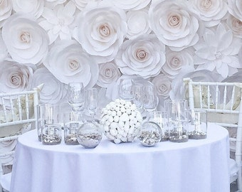 Luxury Paper Flowers - Large Paper Flowers - Wedding Backdrop - Paper Flower Backdrop - Giant Paper Flowers