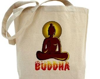 Buddha Tote - Cotton Canvas Tote Bag