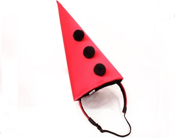 Black and Red Circus Costume - Classic Clown Hat - Halloween Costume - Cirque Costume - Retro Circus - Vintage Clown Hat