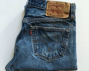 Vintage Men's 90's Levi's 501, Jeans, Blue, Red Tab, Denim (W32 x L30)