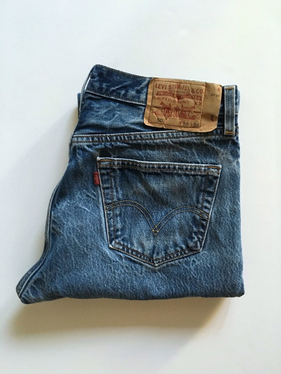 Vintage Men's 90's Levi's 501, Jeans, Blue, Red Tab, Denim (W32 x L30)