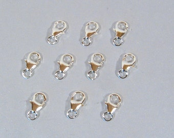 SS Lobster Clasps - 7mm x 4mm - LC306 - Choose Your Quantity