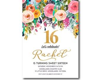 Printable 16th birthday invitations leoncapers printable 16th birthday invitations filmwisefo