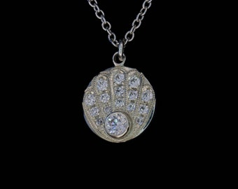 Khamsa or Hand of Fatima - Amulet Against the Evil Eye - Hand Engraved - Sterling Silver