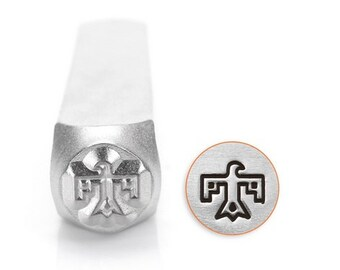 THUNDERBIRD ImpressArt, Metal Stamp, Design Stamp, 6mm, Native American Indian Southwest Design, Stamping Tool for Stamped Metal Jewelry