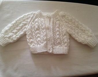 Button through cardigan for 0-3 month baby