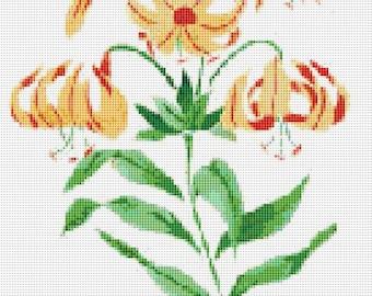 Cross Stitch Pattern, Cross Stitch Patterns, Cross Stitch, Counted Cross Stitch, Cross Stitch Chart, Xstitchpatterns, Cross Stitch Flowers
