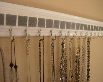 Wall jewelry rack Etsy