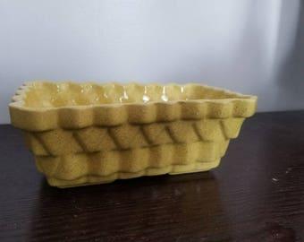 Vintage Mustard Yellow UPCO Planter or Dish