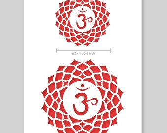 Sahasrara Crown Chakra Ohm Stencil – Card/Plastic - A5 14,8x21cm /5.8x8.3″ - reusable, for painting, crafts, wall and furniture stencil