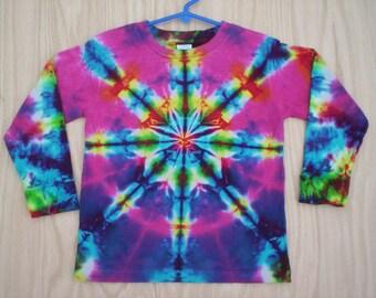 Childrens-Youth Kaleidoscope Long Sleeve Tie Dye Chooose Size