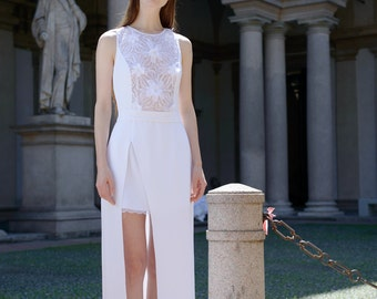 Lace wedding dress, Unique wedding dress, Modern wedding dress, cool wedding dress, special wedding dress, Melissa Wedding Dress
