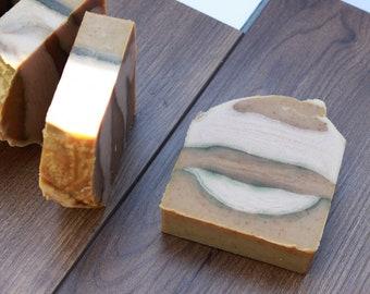 Cedar and saffron, cold process soap