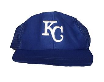new concept ed4cb c61a8 ... cheapest vintage kansas city royals hat cap trucker hat snapback youth  hat 2a66e 8305c ...