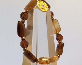 Enhance Prosperity & Abundance with this Powerful, Sacred Energy Infused Citrine an Swarovski Crystal Bracelet by Crystal Vibrations Jewelry