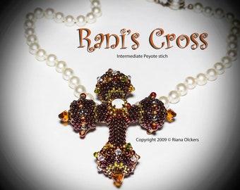 Bead Pattern - Rani's Cross Pendant