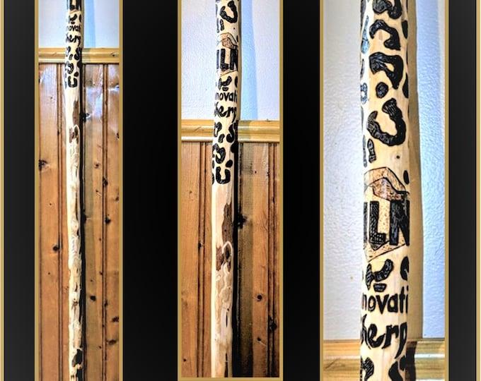 retirement gift - hiking stick - eagle art - eagle -  wife gift - walking stick - father gift - wife gift  -  Gifts for Men - wood gift