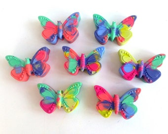 15 Butterfly Shaped Crayons, Butterfly Birthday, Butterfly Favor, Mariposa Birthday, Garden Birthday, Recycled Crayon, Easter Basket Filler
