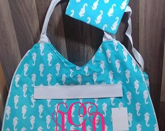 Beach Bag -- Monogram Beach Bag -- Anchor Beach Bag -- Seahorse Beach Bag