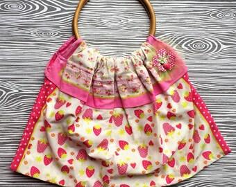 Strawberry Bandanna Bag