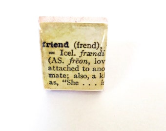 Friend Scrabble Tile  Ring