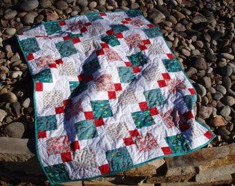 SALE**Modern Quilt, Handmade Quilt, Home Decor, Lap Quilt, Baby Quilt