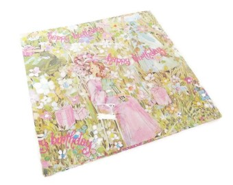 Vintage Wrapping Paper - Happy Birthday Maidens - Full sheet Gift Wrap - Charm Craft