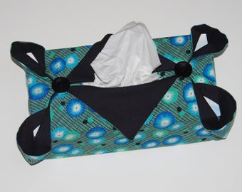 Blue kleenex box cover