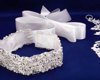 Rhinestone Sash, Bridal Belt, Wedding Sash, Crystal Belt, Pearl Bridal Belt, Bridal Sash, Jeweled Sash, Pearl Bridal Sash, Pearl Bridal Belt