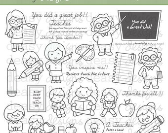 "Digital Stamp Art "" My Teachers """