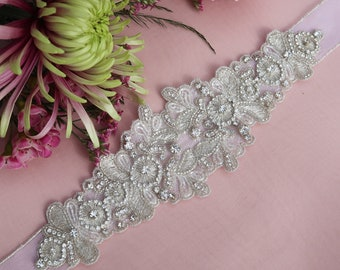 silver sash belt, wedding sash belt, bridal sash belt, Swarovski sash belt, embroidered sash belt, belt for dress, wedding dress, sash