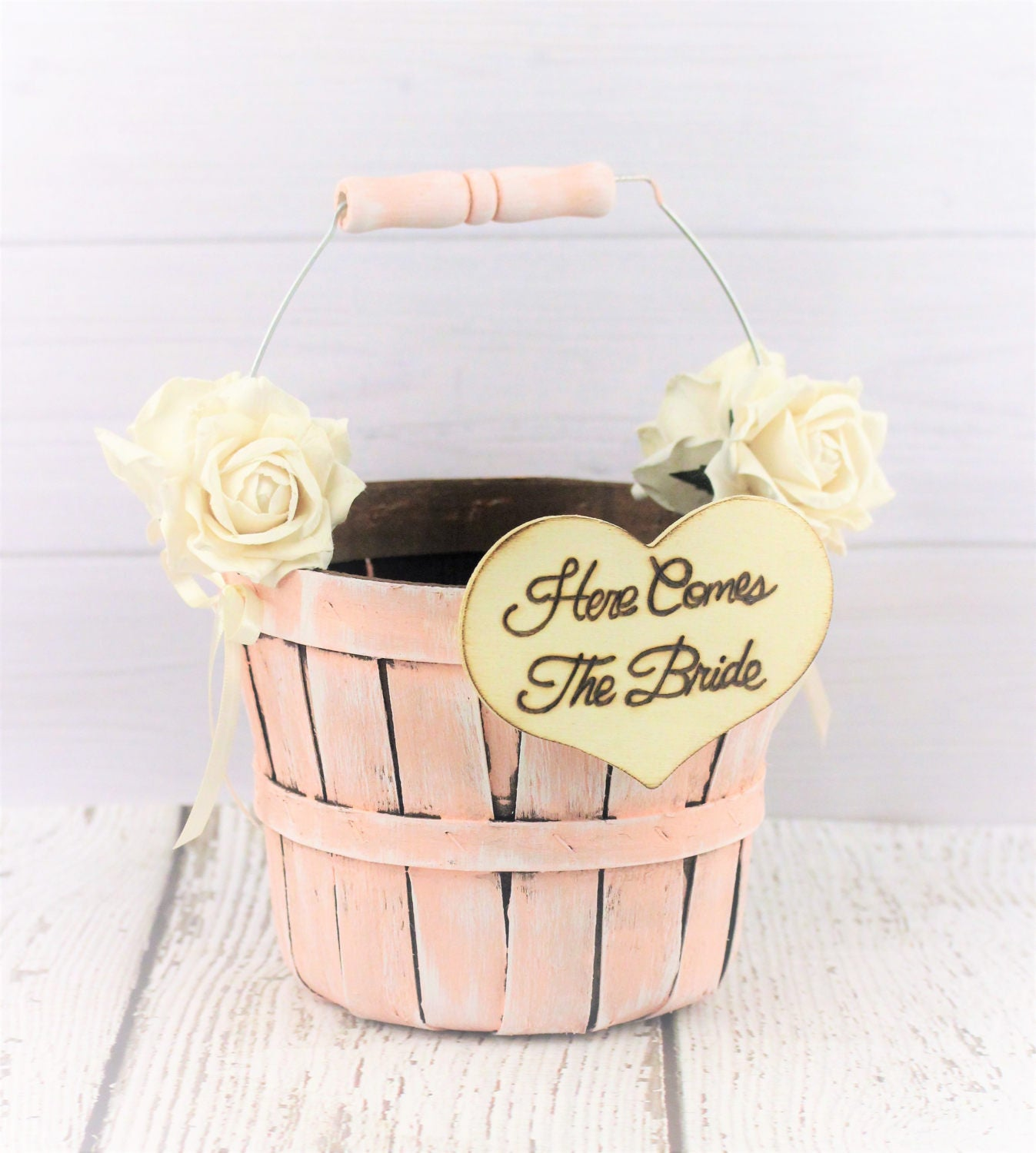 Boho Wedding Flower Girl Baskets Elegant Barn Wedding
