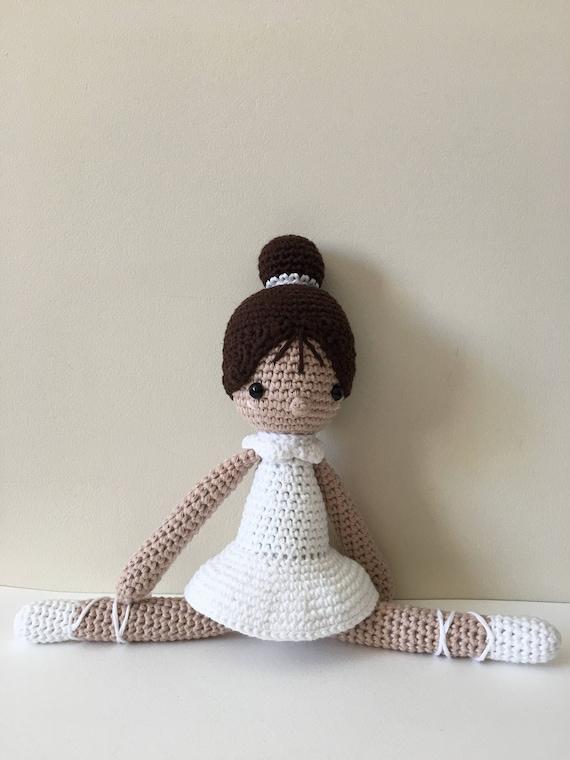 Handgefertigte Ballerina Crochet Amigurumi Puppe Paloma