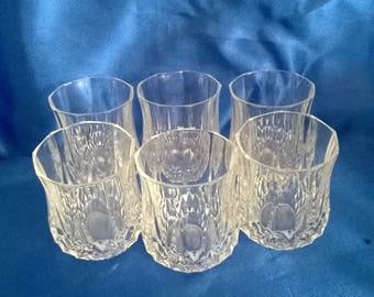6 Cut Glass Shot Glasses