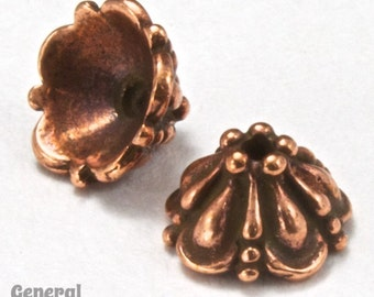 "8mm Antique Copper ""Tiffany"" Tierracast Bead Cap #CKC129"