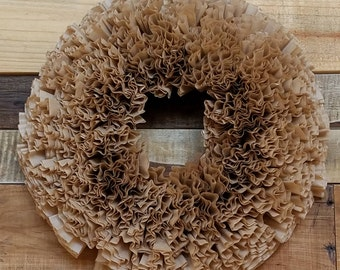 Paper Coffee Filter Wreath