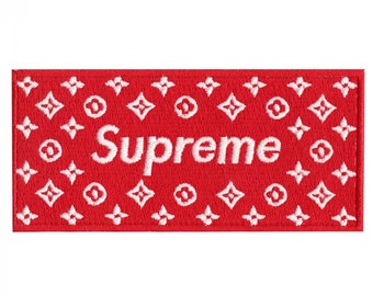 Supreme LV Box Logo Iron On Sew On Applique Embroidered Patch