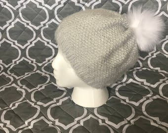 Faux Mohair slouchy hat
