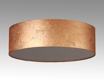Ceiling lamp D. 40 cm, sheet copper look