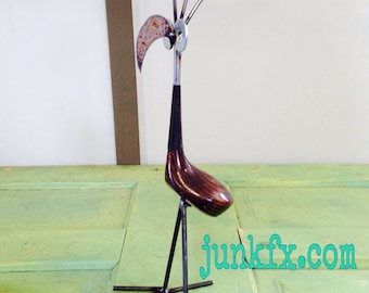 Recycled Golf Club Driver Bird
