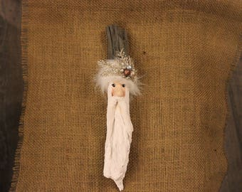 One of a kind hanging Santa